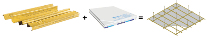 Hệ thống đồng bộ với hệ trần sử dụng khung xương Vĩnh Tường OMEGA